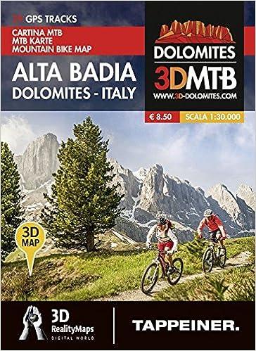 MoutainbikeKarte Alta Badia Dolomiten Italien Cartina