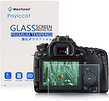 Tempered Glass 0.3mm 9H Hard Protective Shield Cover Designed for Canon 6D DSLR Camera