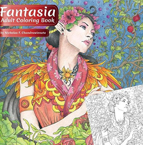 Amazon Fantasia Adult Coloring Book 9780997480764 Phoenix Amulet Nicholas F Chandrawienata Books