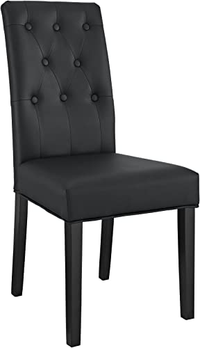 Modway Confer Modern Tufted Faux Leather Upholstered Parsons Kitchen and Dining Room Chair