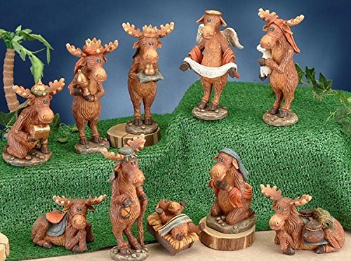 - StealStreet SS-UG-PY-3001 Moose Nativity Scene Figurine