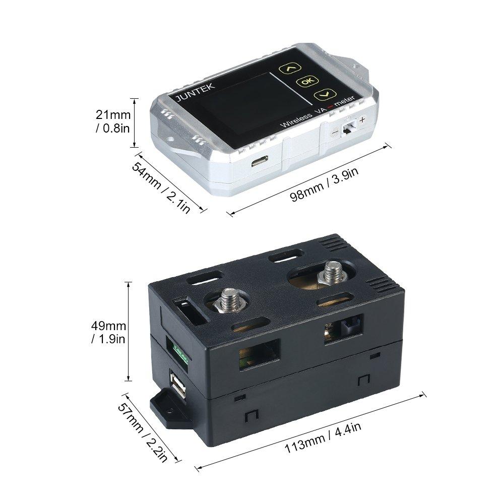 KKmoon DC 0.01-100V 0.1-300A Multifuncional Inal醡brico Digital Bidireccional Voltaje Actual Medidor de Potencia Amper韒etro Volt韒etro Capacidad Contador de Coulomb