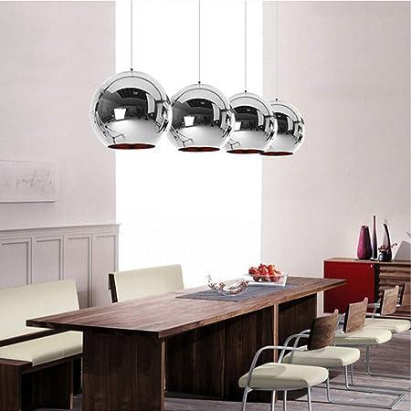 Geyky Veilleuse Luminaire Suspendu Cuivre Verre Miroir Ball Lampe