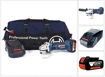 Bosch GWS 18 V-LI Professional 115 mm Amoladora de ángulo ...