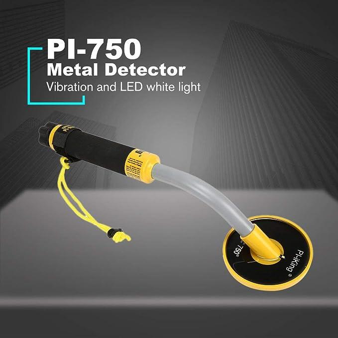 PI-750 Detector de Metales a Prueba de Agua de inducción de impulsos Debajo del Agua Moneda de Oro Búsqueda de Tesoros Luz de vibración Alarma: Amazon.es: ...