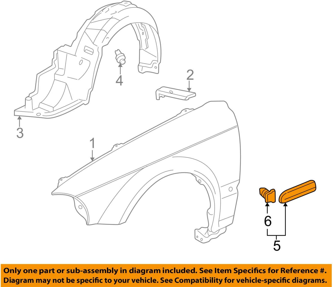 Genuine Honda 75301-S9V-A12ZK Door Side Protector Assembly