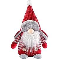 KESYOO Kerstkabouters Handgemaakte Zweedse Kabouter Dwerg Ornament Kerstversiering Kerstcadeautjes (Puntmuts)
