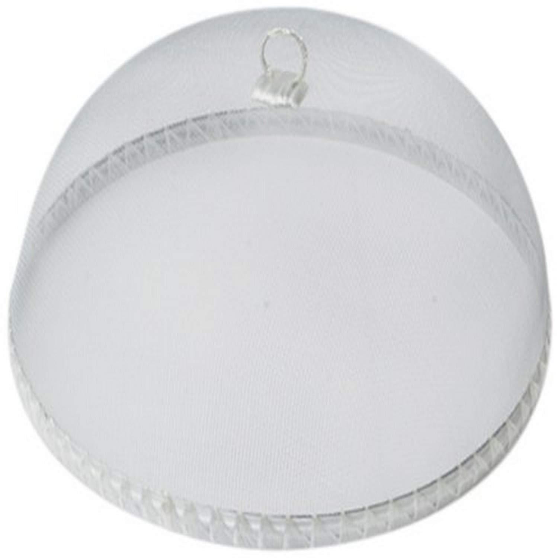 Woodard & Charles Round White Food Domes, 14-Inch