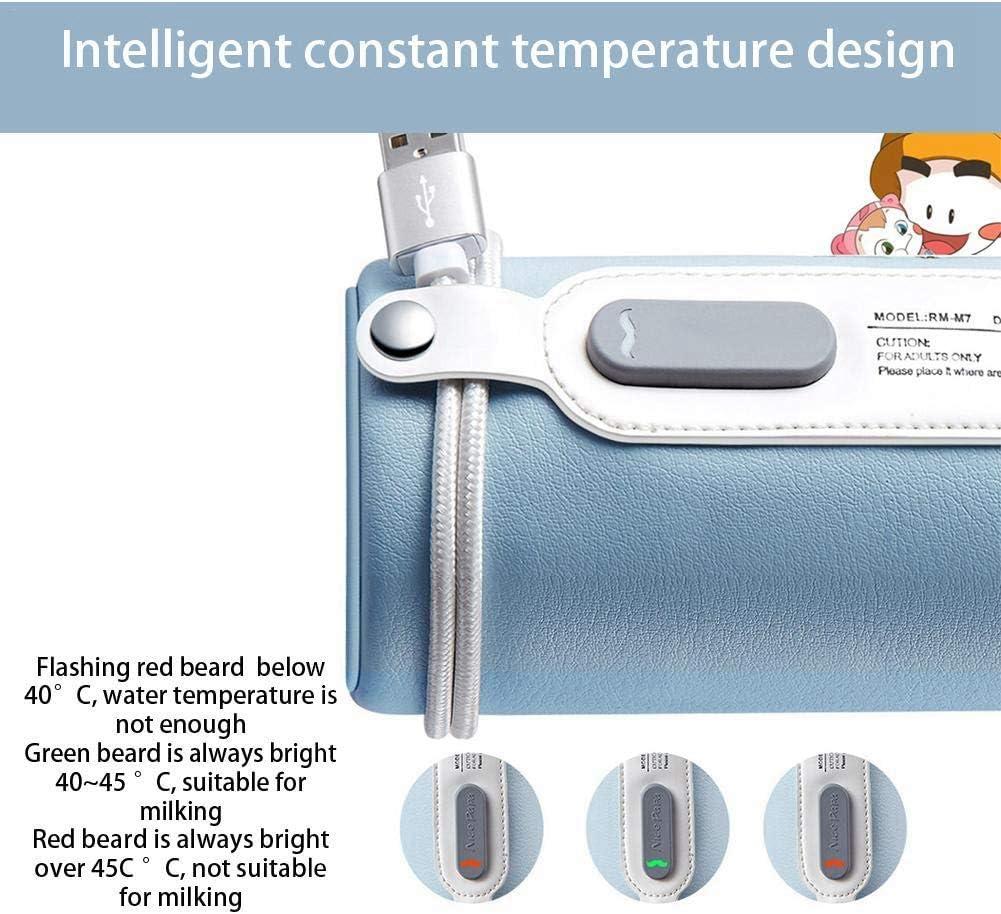 termostato de carga USB PPSU Calentador de botellas Mantener la leche o el agua caliente MFS Sistema del term/óstato del biber/ón Sistema de calentamiento universal port/átil azul