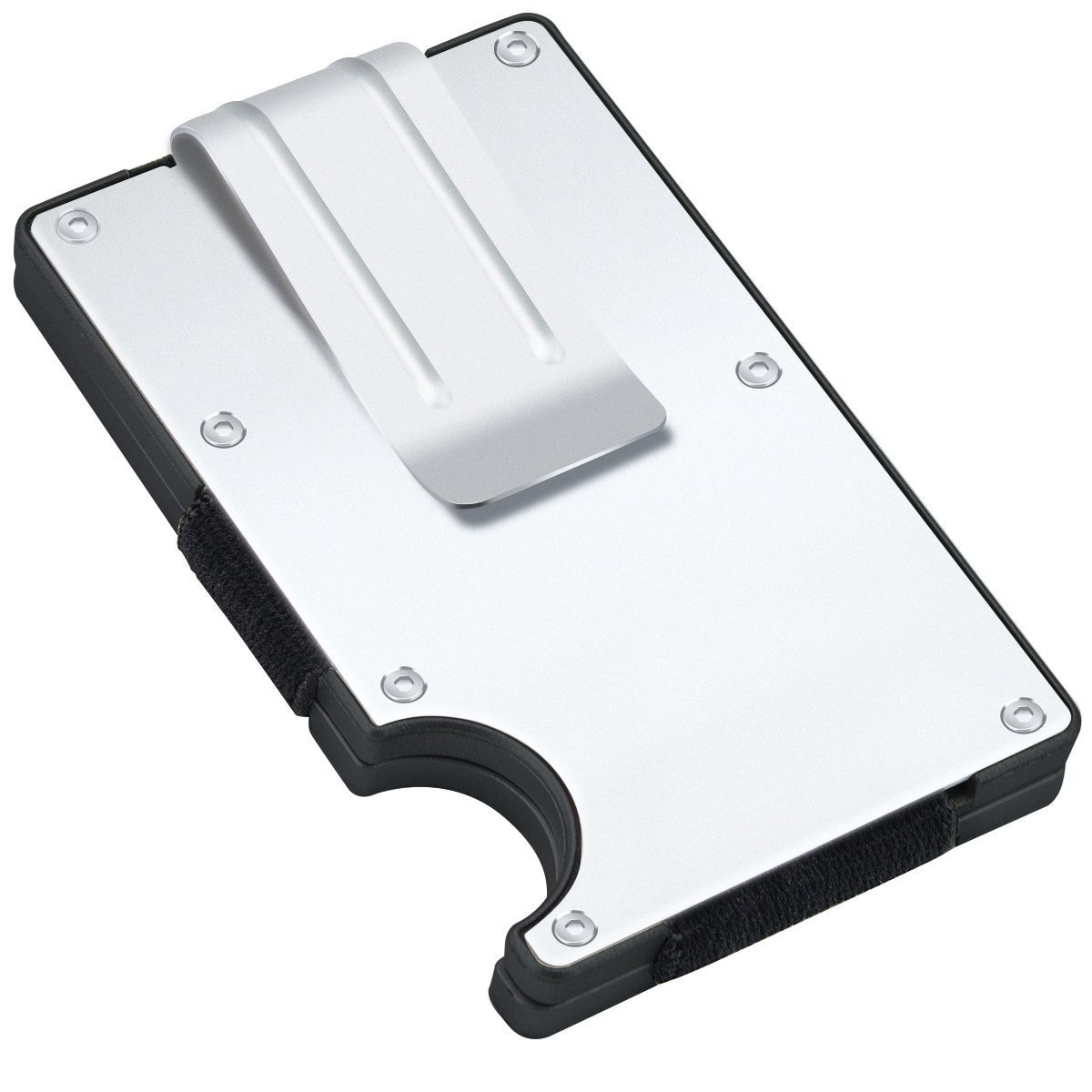 G-Hawk® Luftfahrt Aluminium Legierung Fallmappen Schlank Minimalistisch Visitenkarte Halter mit ABS-Kunststoff Leichter Geldclip mit RFID Blocking für Männer Frauen OEM 927-VL