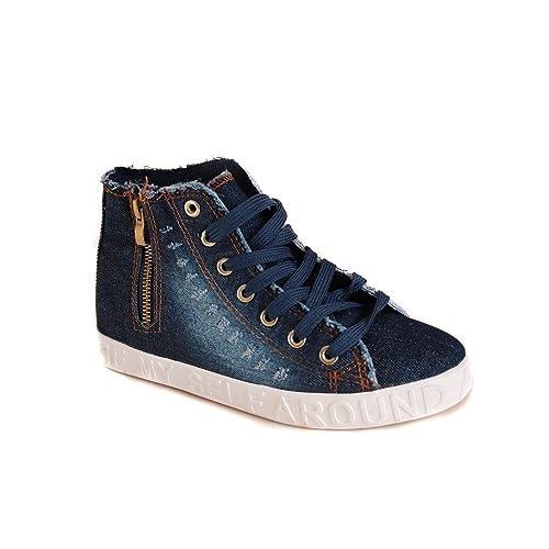 No Name - Zapatillas de Deporte para Mujer, Azul (Azul Marino), 37: Amazon.es: Zapatos y complementos
