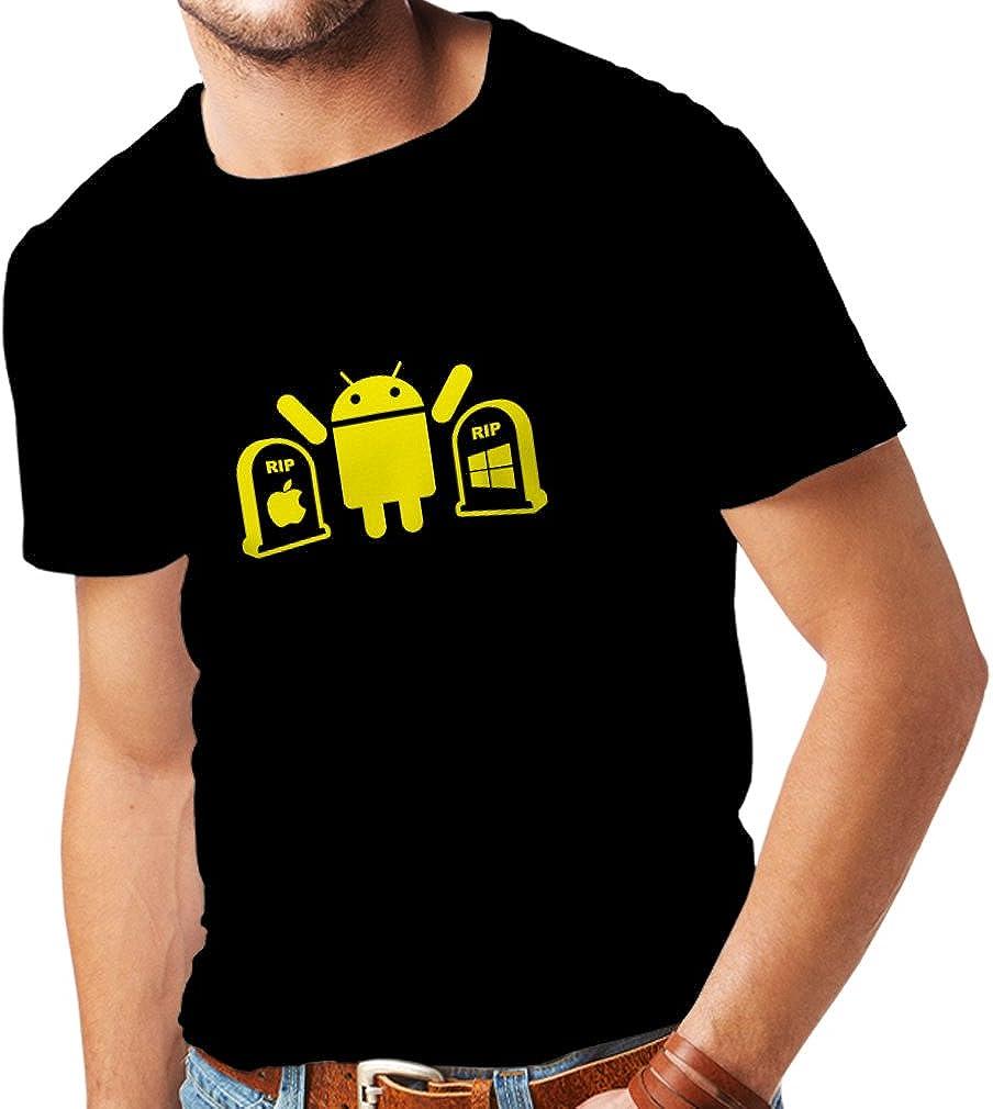 lepni.me Camisetas Hombre El Ganador es Android - Regalo para los fanáticos de la tecnología