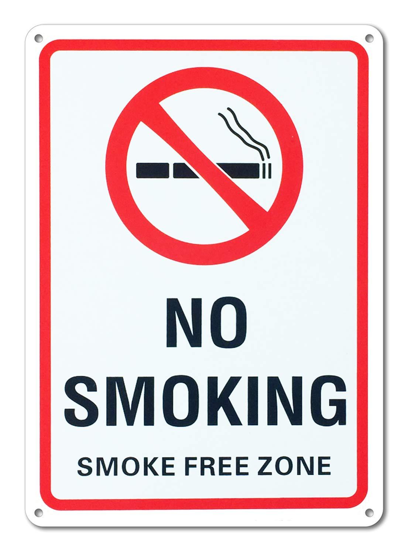 MiraCase Señal de prohibido fumar, grande, visible, 25,4 x ...