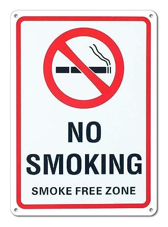 Amazon.com: Señal de no fumar, zona libre de humo, gran ...