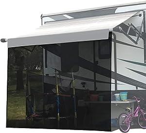 Shadeidea RV Sun Shade Screen for Awning - 6' X 12' 5'' Black Mesh Sunshade Motorhome Camping Trailer UV Sunblocker Canopy Sunscreen Offer 3 Years Warranty