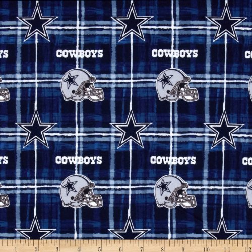 Fabric Traditions NFL Flannel Dallas Cowboys Navy/Grey Yard (Cowboys Fabric Dallas)