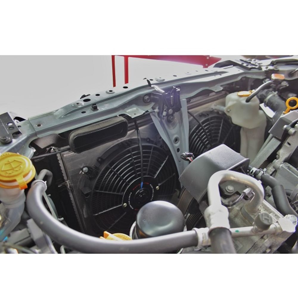 mishimoto mmfs-brz-13p Plug-n-play Rendimiento aluminio Ventilador Sudario, Plata: Amazon.es: Coche y moto
