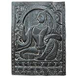 Mogulinterior Budha Interiors Vitarka Mudra Teaching Buddha Carving Wood Wall Hanging 36x48 Inches