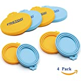 Pet Food Can Cover - 4 Pack - Silicone Lids for Dog Cat Food Can - One Size fits All Standard Size Can Top