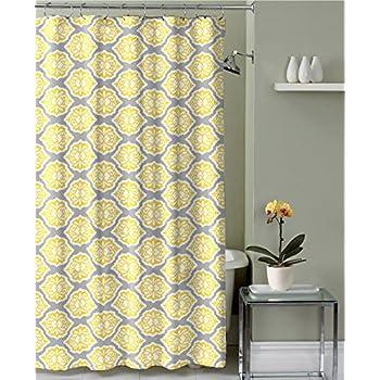 Durable Modeling Madison Park MP70 1734 Nisha Shower Curtain 72x72 Yellow