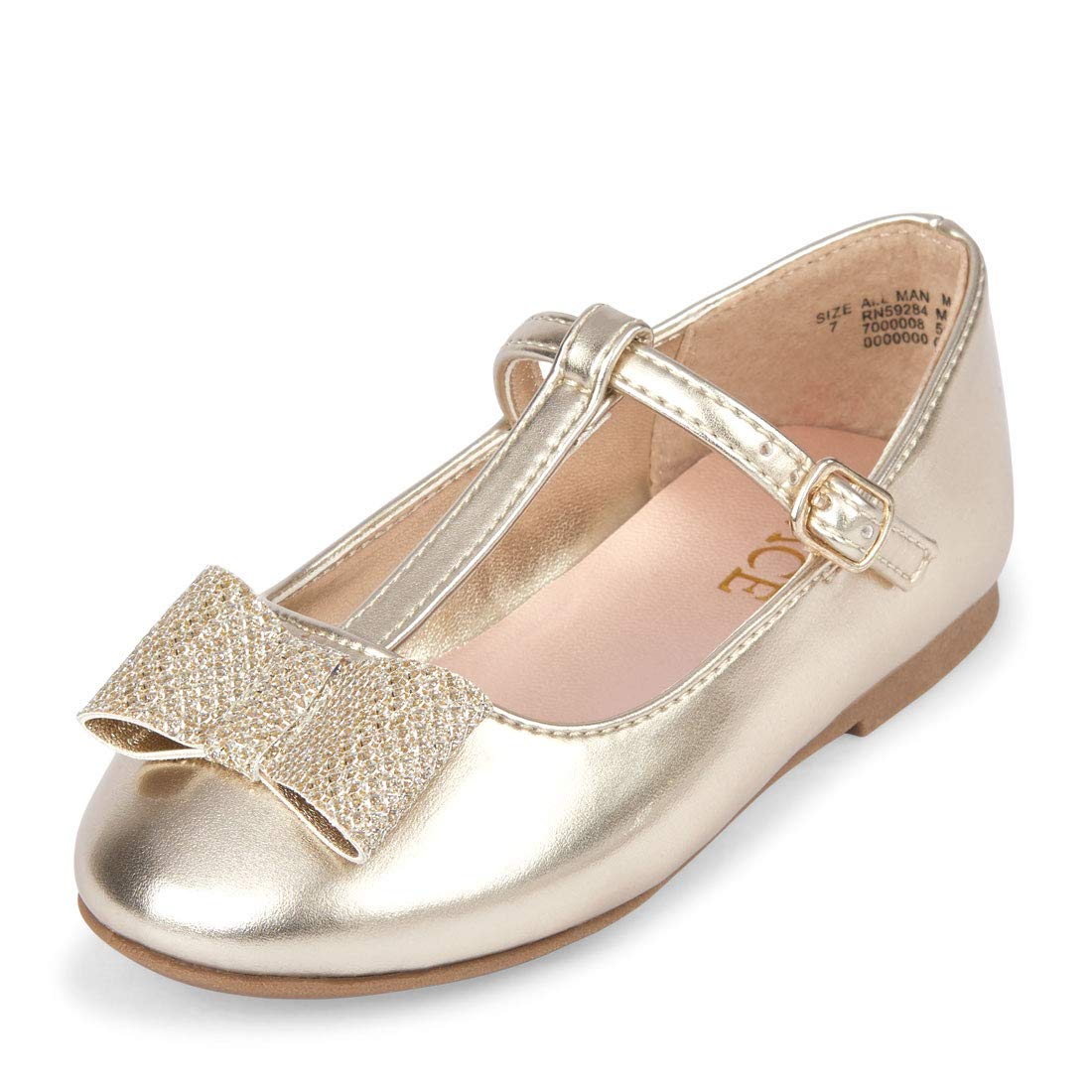 b26b9a35756bb Amazon.com | The Children's Place Kids' Strap Ballet Flat | Flats