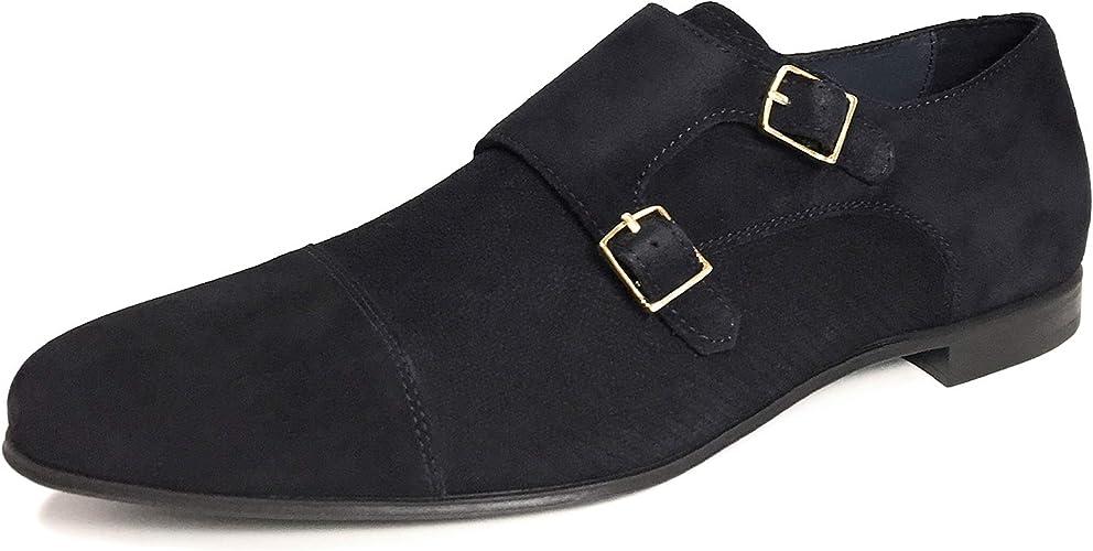 Zara 2422002010 Zapatos de Piel para Hombre, Color Azul