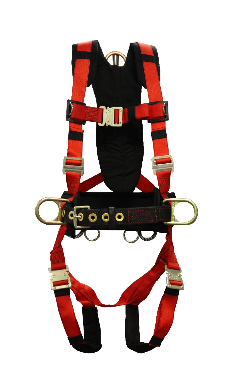 Elk River 68303 Pinnacle Polyester/Nylon 3 D-Ring Harness with Quick-Connect Chest, Large