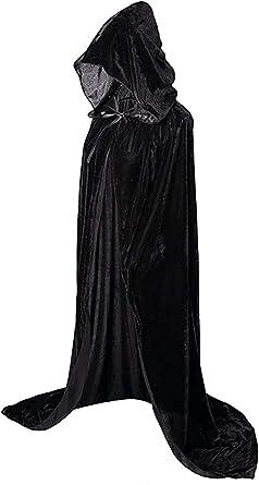 Unisex Halloween Hooded Cape Velvet Long Cloak Adult Costume Dress Coats Cosplay