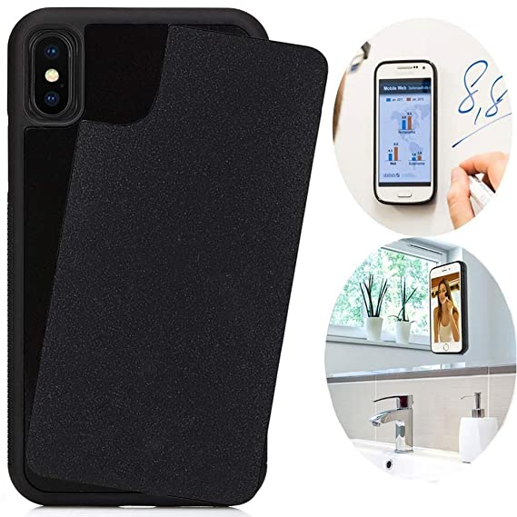 official photos 04a2c fefdd CloudValley Anti Gravity Case for iPhone Xs MAX (2018), Phone Cases Magical  Nano Can Stick to Smooth Flat Surfaces - Black