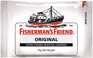 Fisherman's Friend Original Extra Strong Menthol Lozenges, 25 g, Original Extra Strong