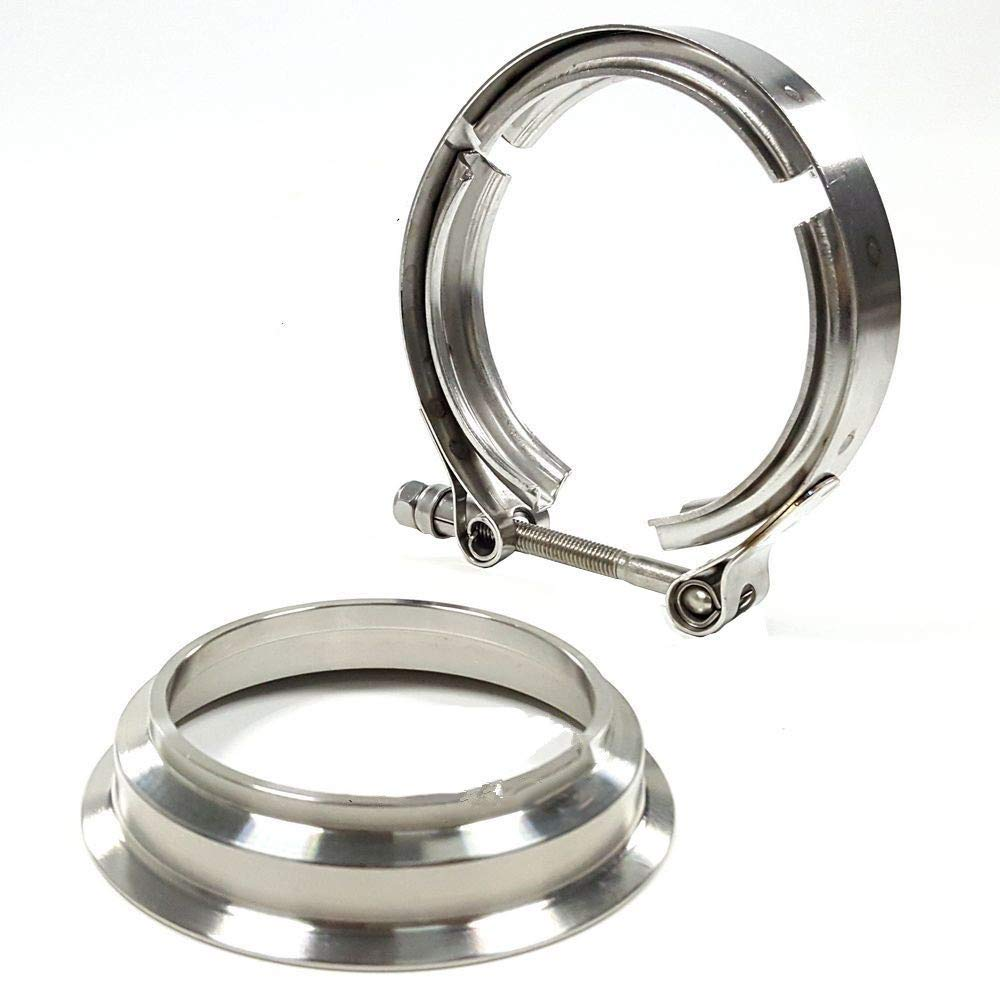 Ispeedytech 3'' Downpipe Flange & Clamp V-Band for Borg Warner Turbo S369 SX-E S200 S300 S366 by Ispeedytech (Image #2)