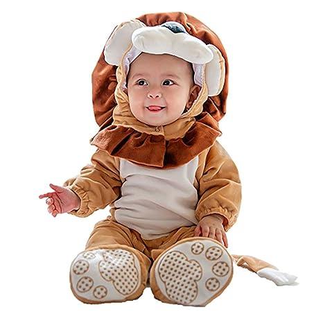 shubuy bebé disfraz de león mono disfraz con capucha Pelele Body de Footies 3pc/set