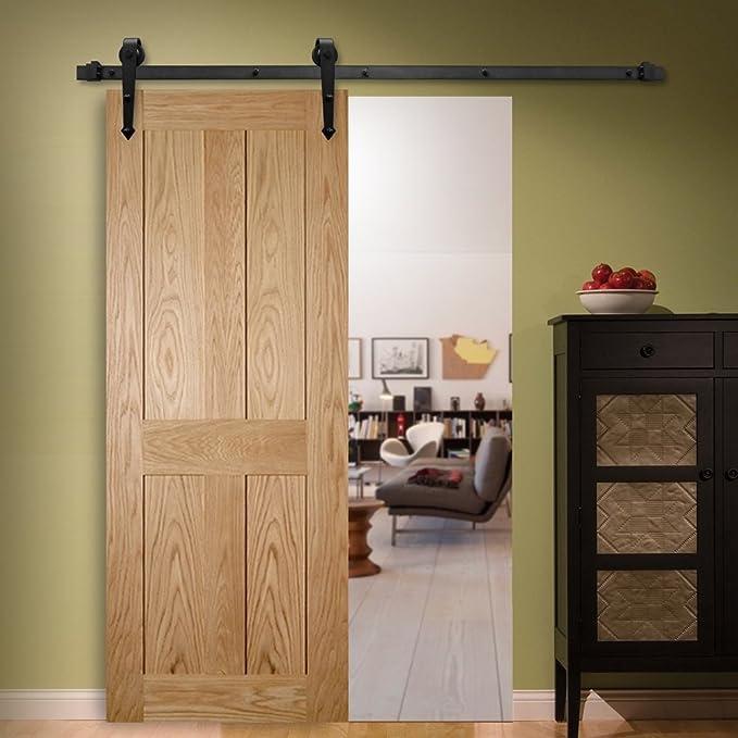 Melko – Herraje para rústico de hierro para puertas correderas con ...