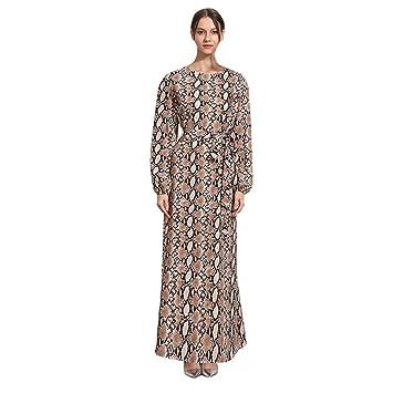 QHJ Muslim - Elegante vestido de noche para mujer, de manga ...
