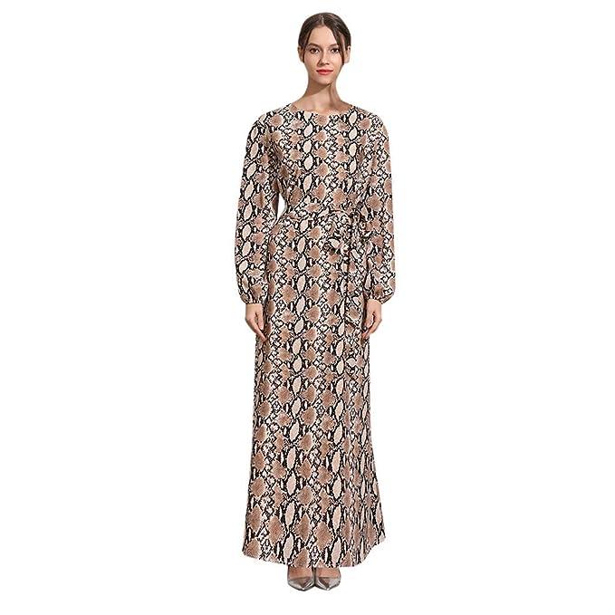 Amazon.com: Beauty&YOP - Vestido islámico para mujer, manga ...