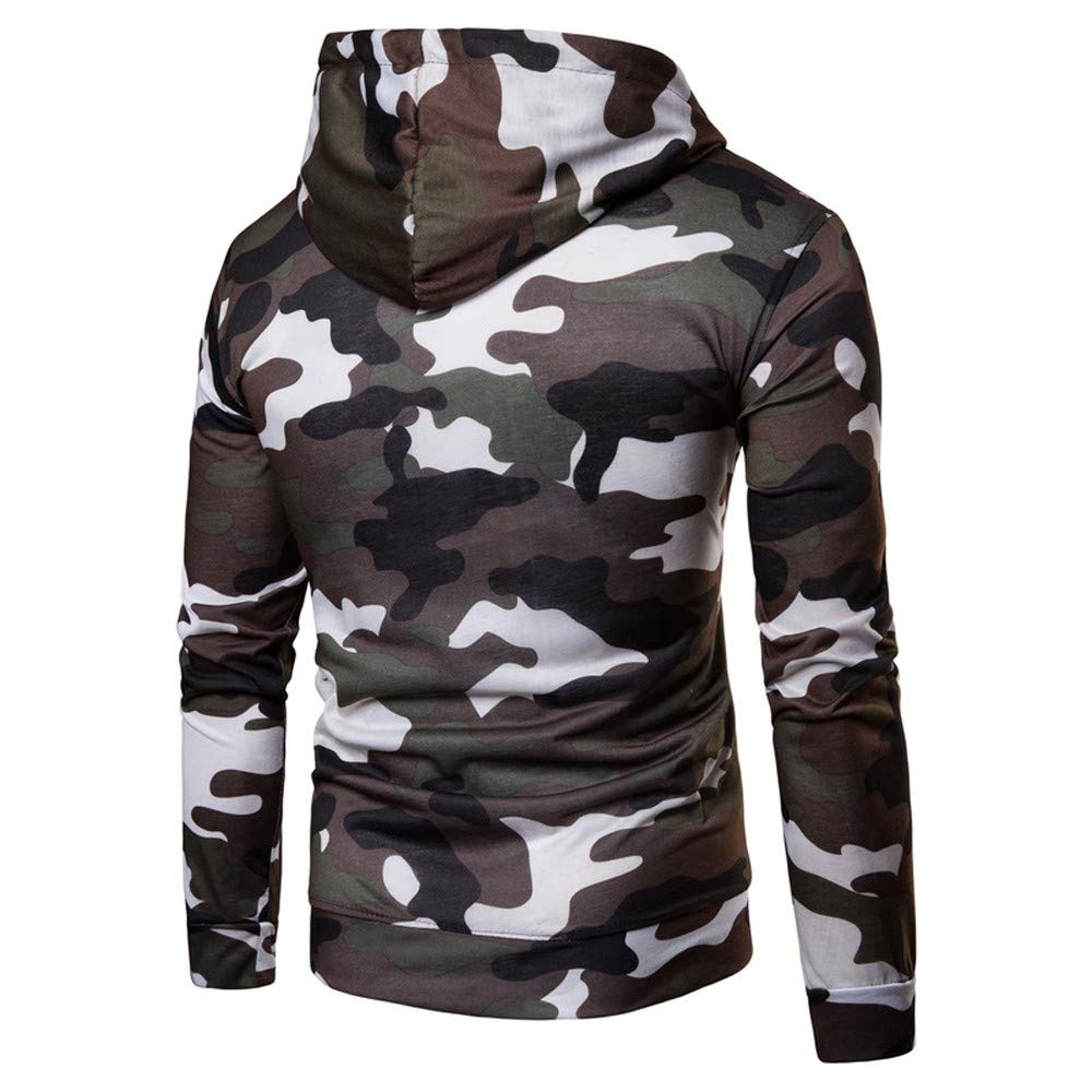 Amazon.com: Makeupstore Men Sweatshirt, Men Teens Long Sleeve Camouflage Hooded Pullover Coat Top: Clothing