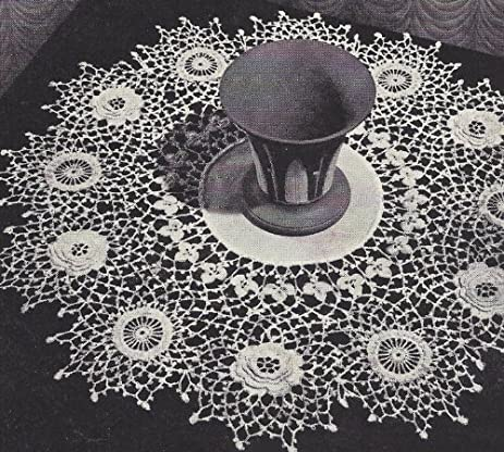 Amazon Vintage Crochet Pattern To Make Irish Rose Thistle