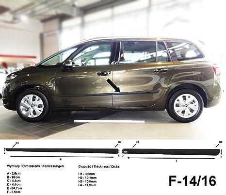 Spangenberg Listones de protección Lateral Negro para Citroen C4 Grand Picasso II Citroën a Partir de