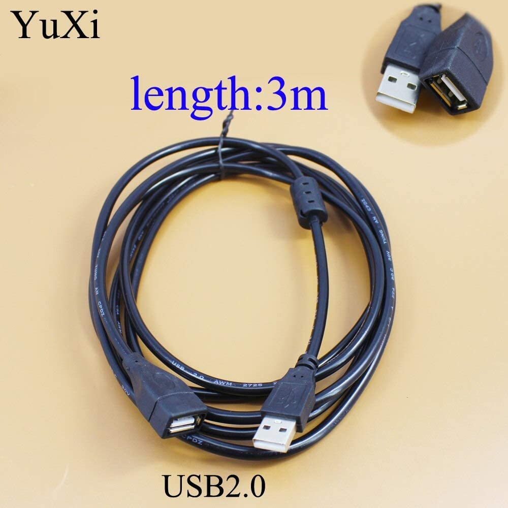 Cable Length: 1pcs, Color: 5m Cables Occus USB Extension Cable Super Speed USB 2.0 Cable Male to Female 1m Data Sync for Computer USB 2.0 Extender Cord