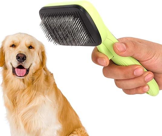 spazzola retrattile per cani e gatti iFCOW Pettine per la toelettatura dei gatti