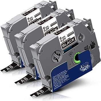 DRUCKER SCHRIFTBAND KASSETTE 9mm WEIß-TRANSP für BROTHER P-Touch 9600