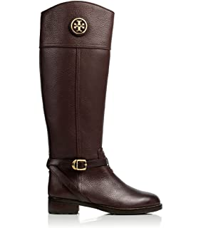 1877d2e01db1f hot tory burch joanna riding boot in black lyst 5fee1 05971  coupon for  tory burch boots teresa riding boot tumbled leather flat tb logo 98f55 74717