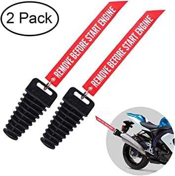 Exhaust Pipe Muffler Wash Plug Remove Before Start Engine For 2 and 4Stroke Motorcycle Dirt Bike 1 PC Red