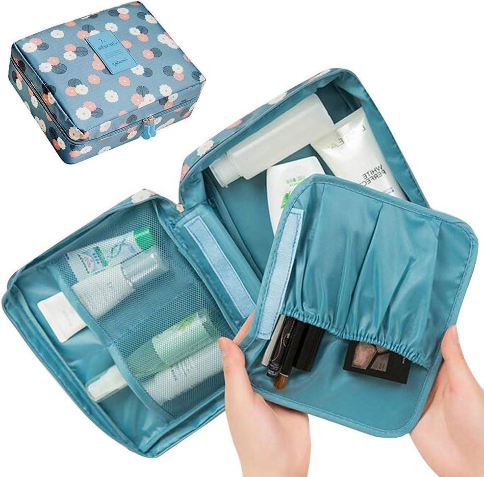 LKMY Trousse de maquillage portable imperm/éable /à motif floral pour femme et fille