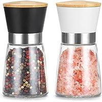 Vucchini Pepper Salt Grinder, Set of 2 Pepper Crusher Manual Mill Shakers with Adjustable Coarseness Ceramic Blades…