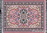 Pink Woven Rug Mouse Pad - Oriental Style Carpet Computer Mouse Mat