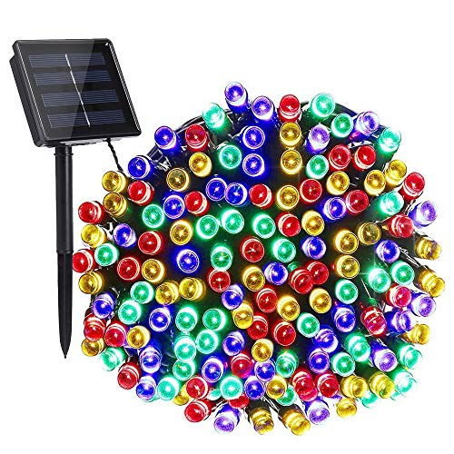 Toodour Solar Christmas Lights, 72ft 200 LED 8 Modes Solar String Lights, Waterproof Solar Fairy Lights for Xmas Tree, Garden, Patio, Home, Holiday, Party, Outdoor Christmas Decorations (Multicolor)