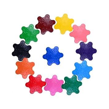 acorre 12 Kinder Kleinkind snowflake-shaped Wachsmalstifte Wachs in ...
