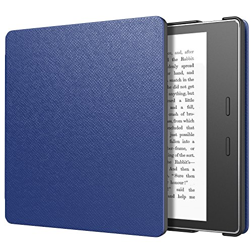 MoKo Case Fits All-New Kindle Oasis (9th and 10th Generation ONLY, 2017 and 2019 Release), Slim Fit Premium PU Leather Protective Cover with Auto Wake/Sleep