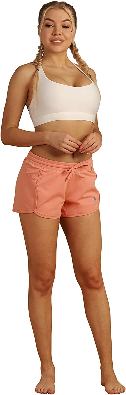 icyzone Damen Sport Shorts Sommer Kurze Hose Hot Pants Laufshorts Baumwolle